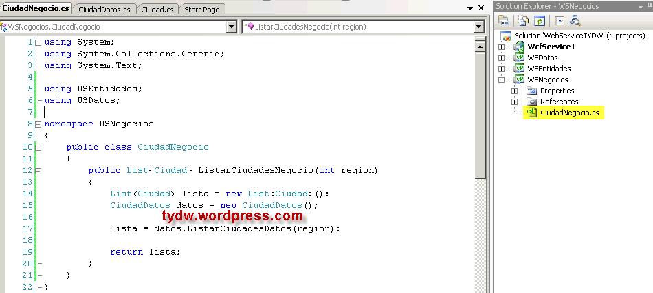 Como crear un Servicio WCF con C# y Visual Studio 2008 ...