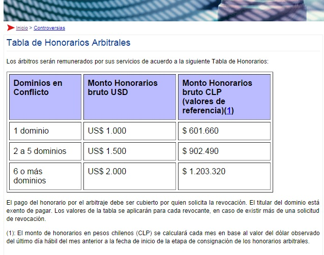nic-chile-tabla-de-honorarios-arbitrales